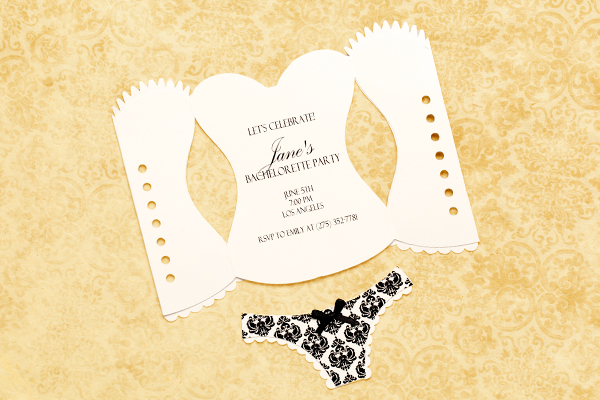 CLF Sexy Custom Designed Corset Invitations