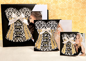 art prints in Corset packaging